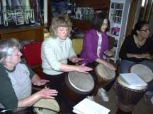 Hand drumming class group lesson