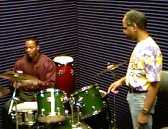 Studio instruction on drum set technique