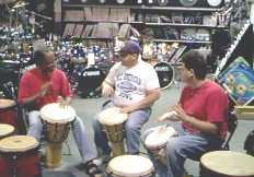 MARS Music Store hand drumming lesson