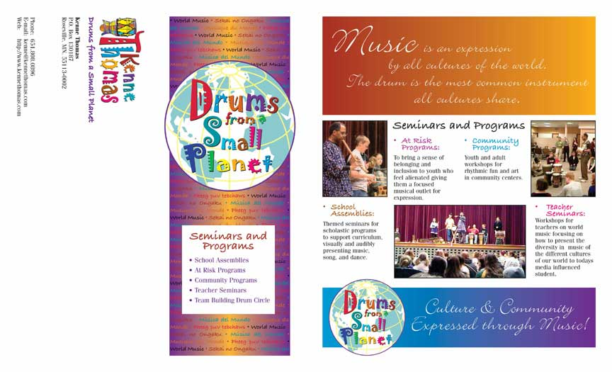 Small Planet workshop brochure front mailer