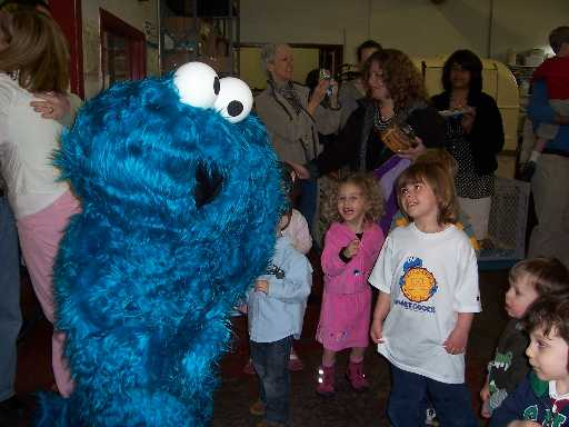 Apparently you got to be Cookie Monster is you place first in the